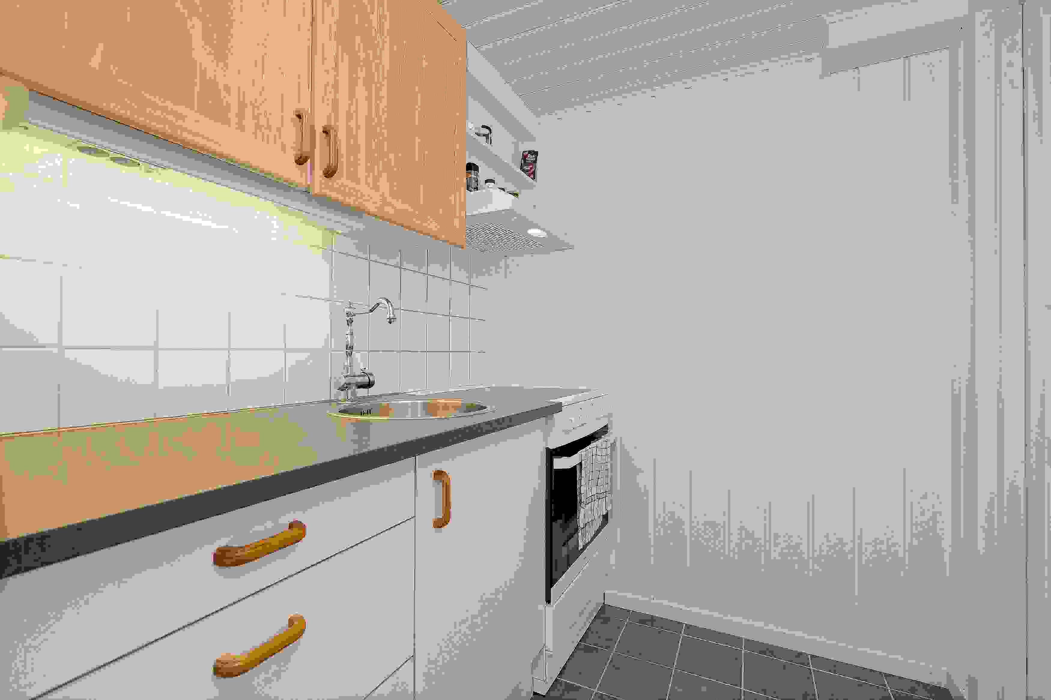 Kjøkken i hybel i underetasjen