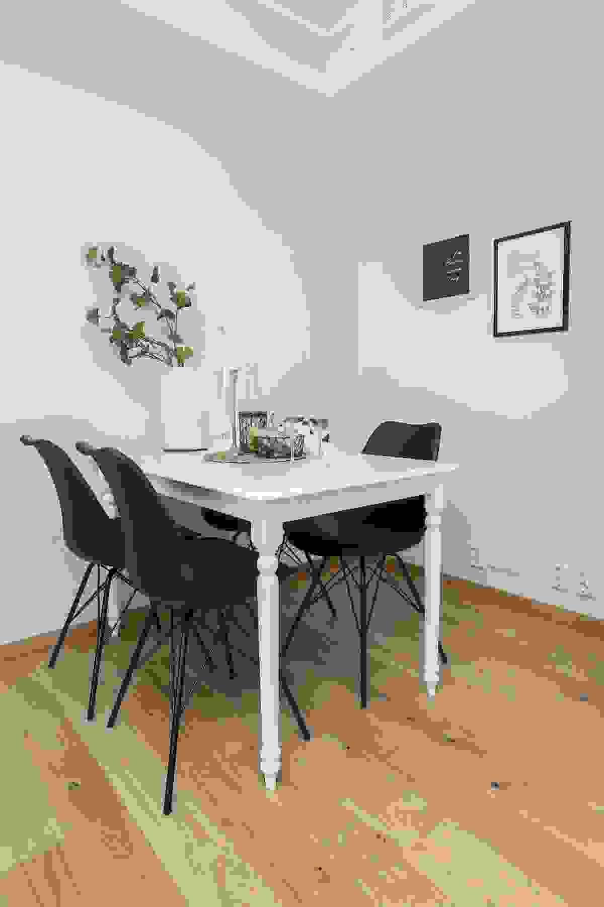 Spisestuens mest naturlige plassering er antagelig innerst i leiligheten