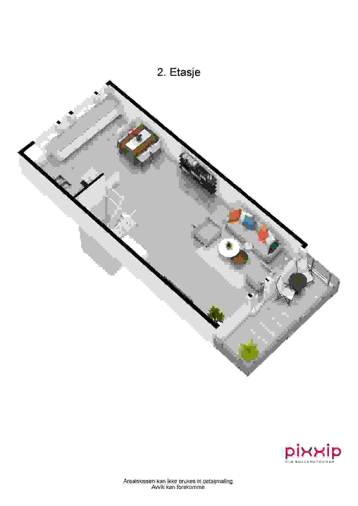 3d-plantegning 2. etasje