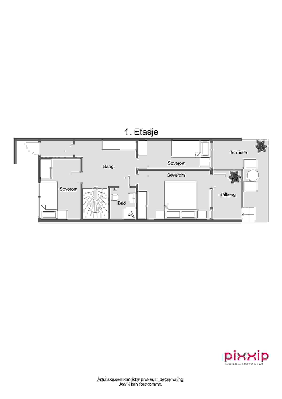 2d-plantegning 1. etasje