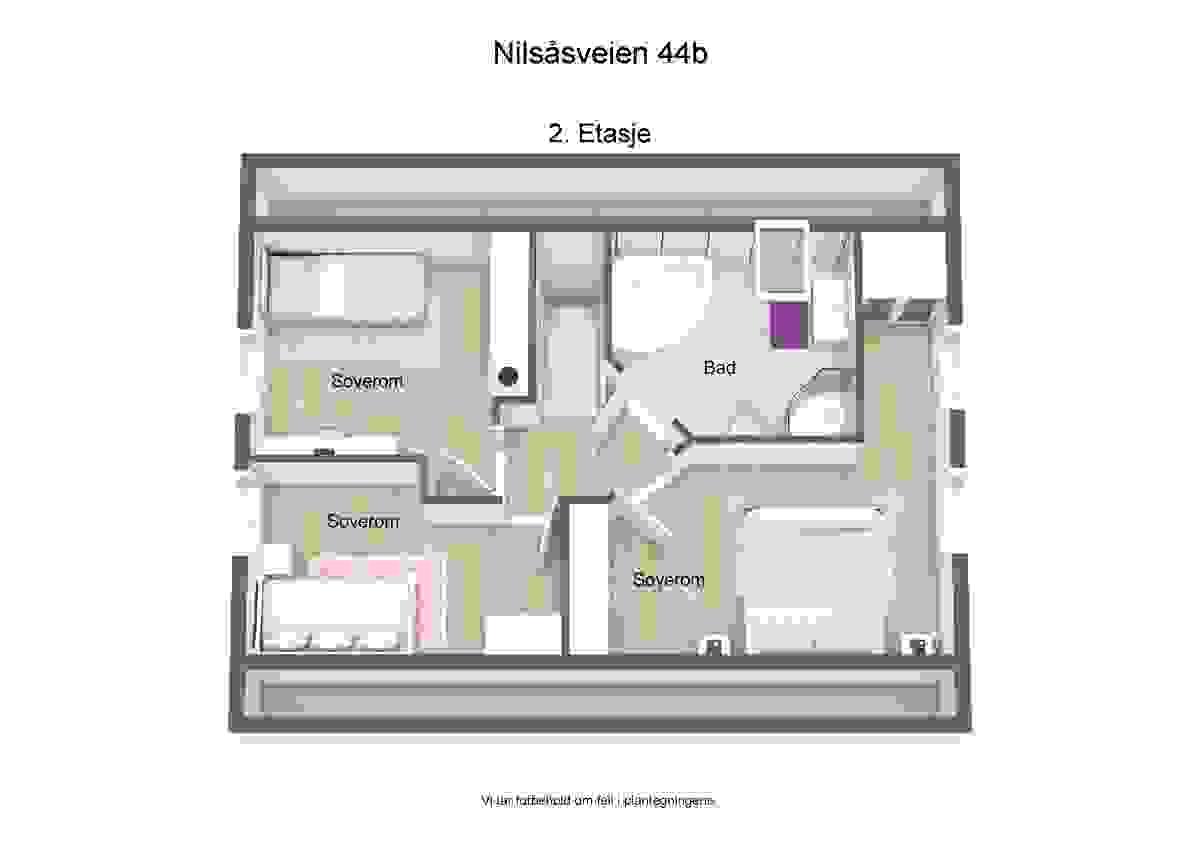 3d plantegning 2. etasje