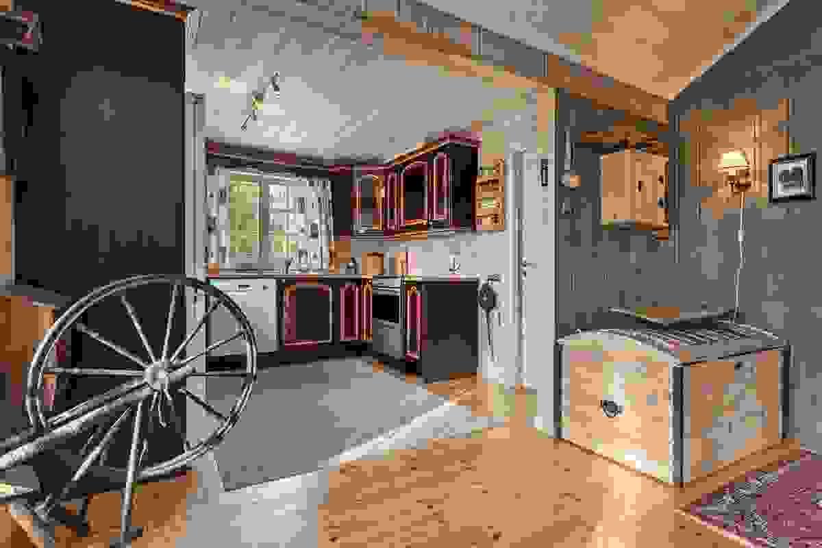 Åpent mot kjøkkenet