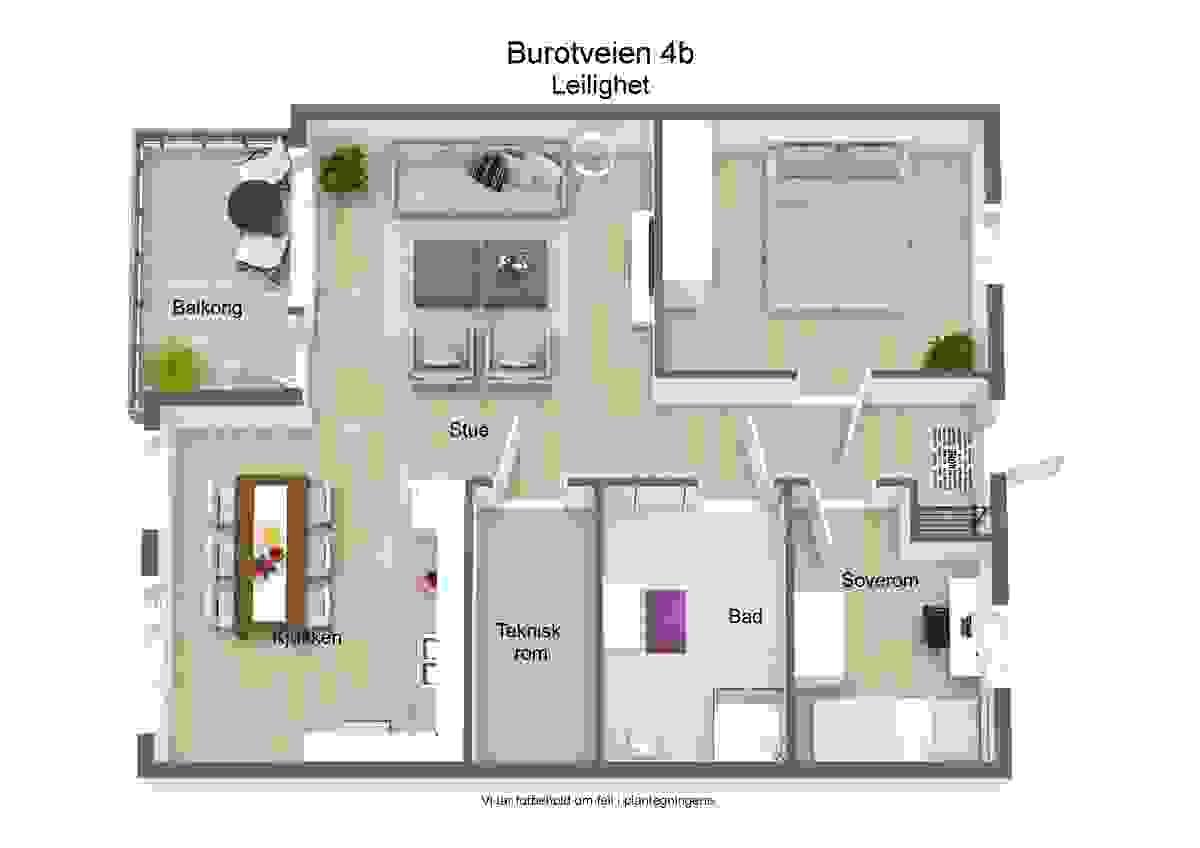 Plantegning_illustrasjon - Burotveien 4B, H102