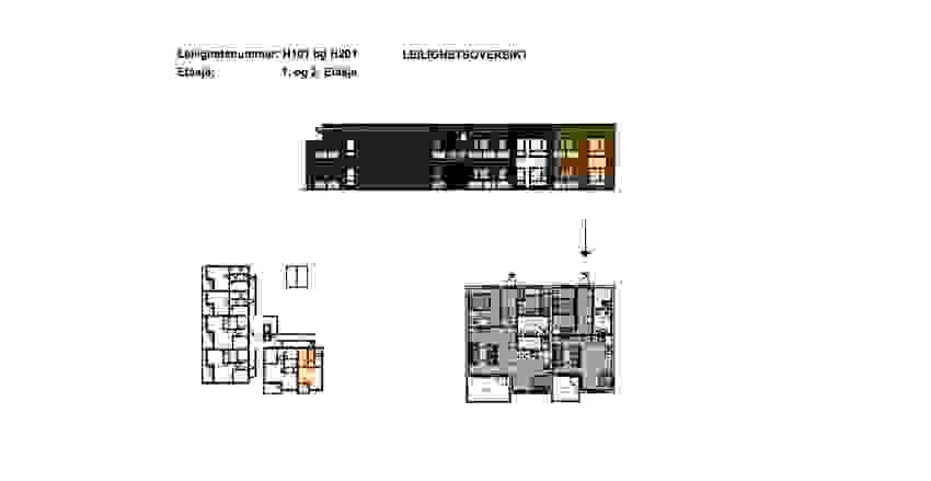 H0101 og H0201 - plantegning - illustrasjon
