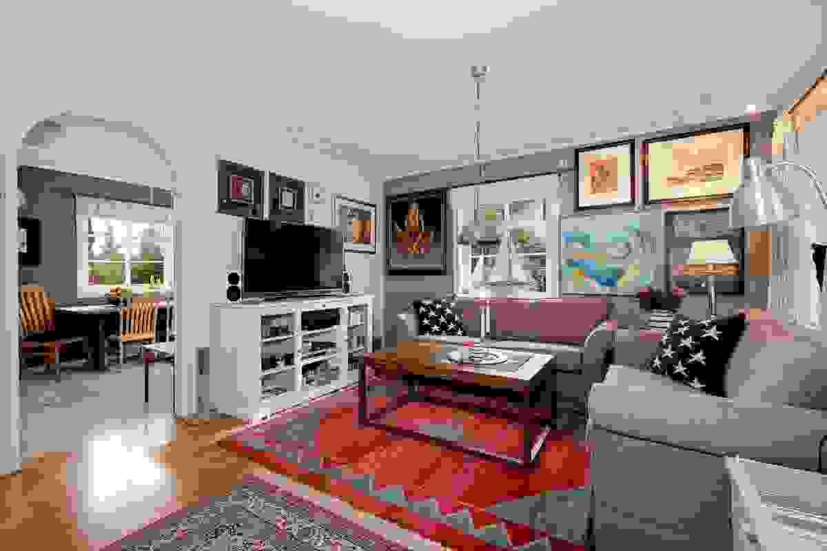 Stue i halvåpen løsning til stuen