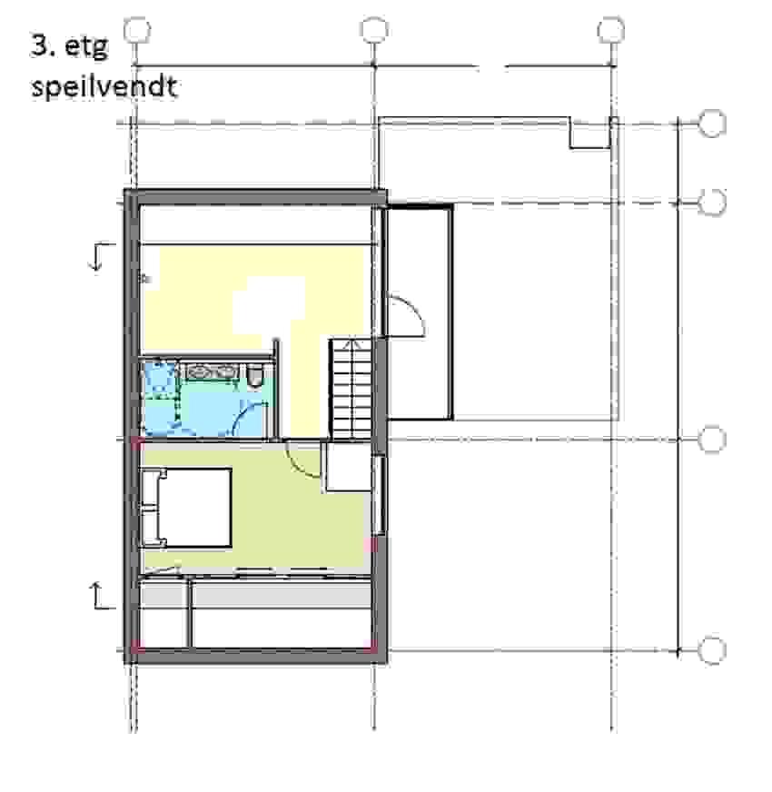 Loftsetasje speilvendt _Bolig 2 og 4_ illustrasjon