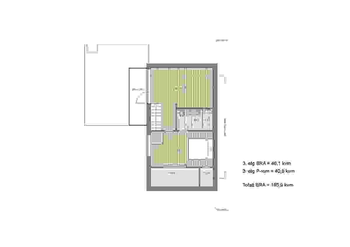 Loftsetasje_Bolig 1 og 3_illustrasjon