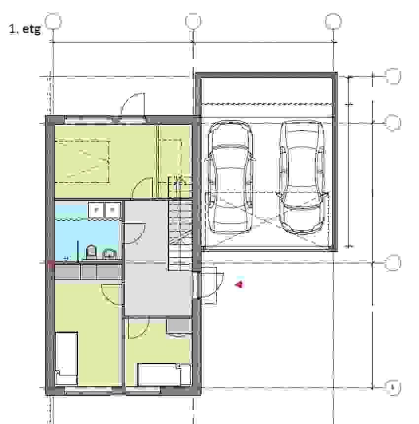 1. etasje speilvendt _Bolig 2 og 4_ illustrasjon