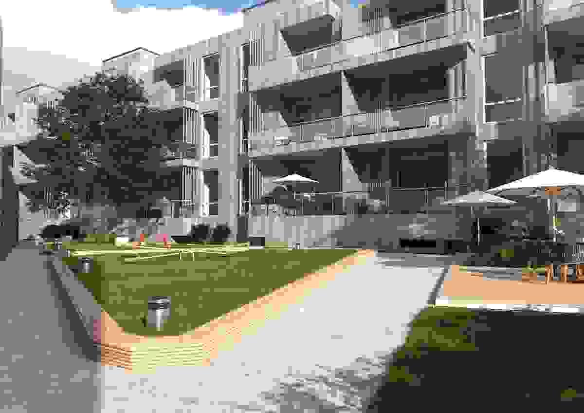 På sydsiden har man store og solrike balkonger