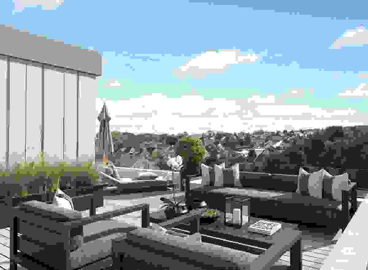 Terrasse - toppetasjeleilighet