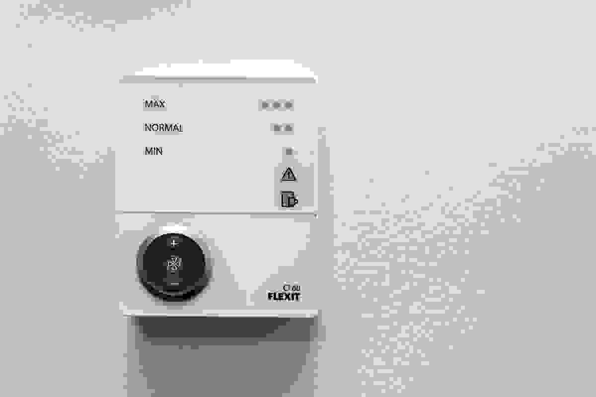 Boligene leveres med balansert ventiasjon med varmegjenvinner