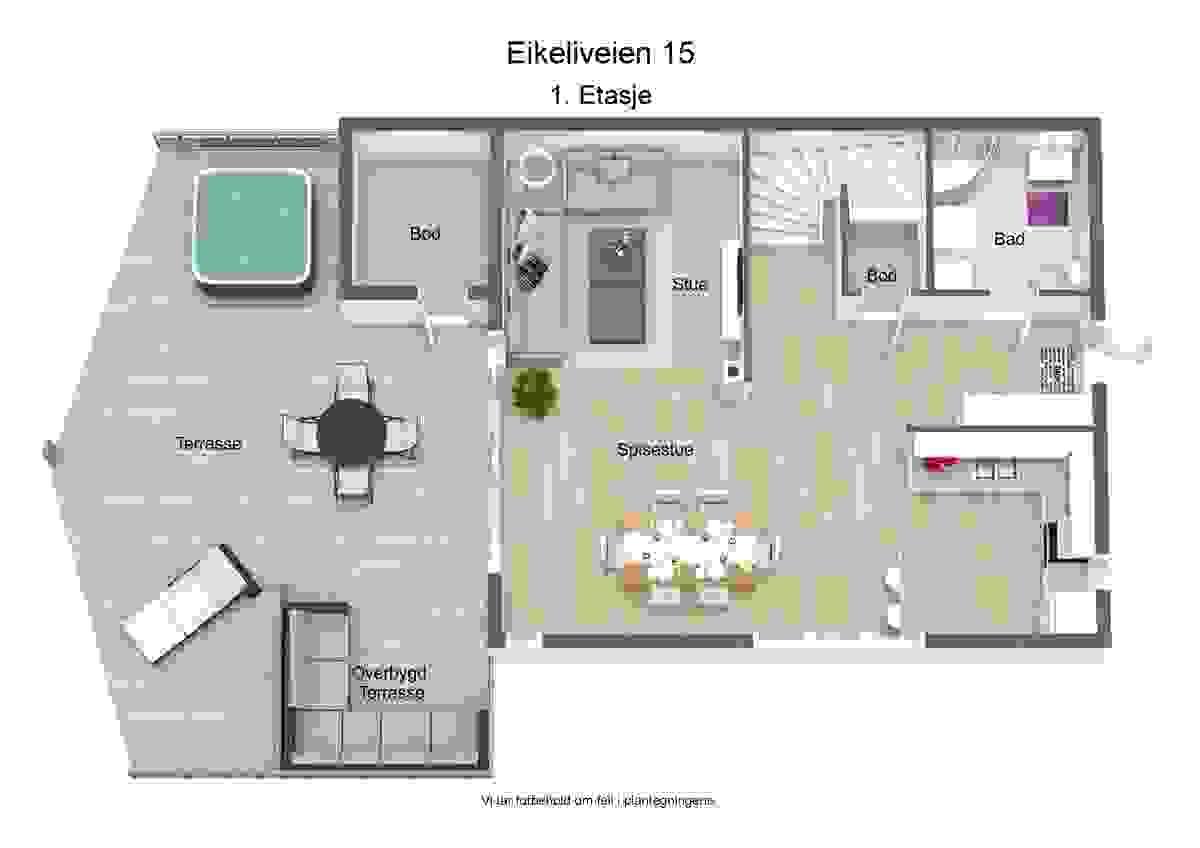 3d-plantegning 1. etasje