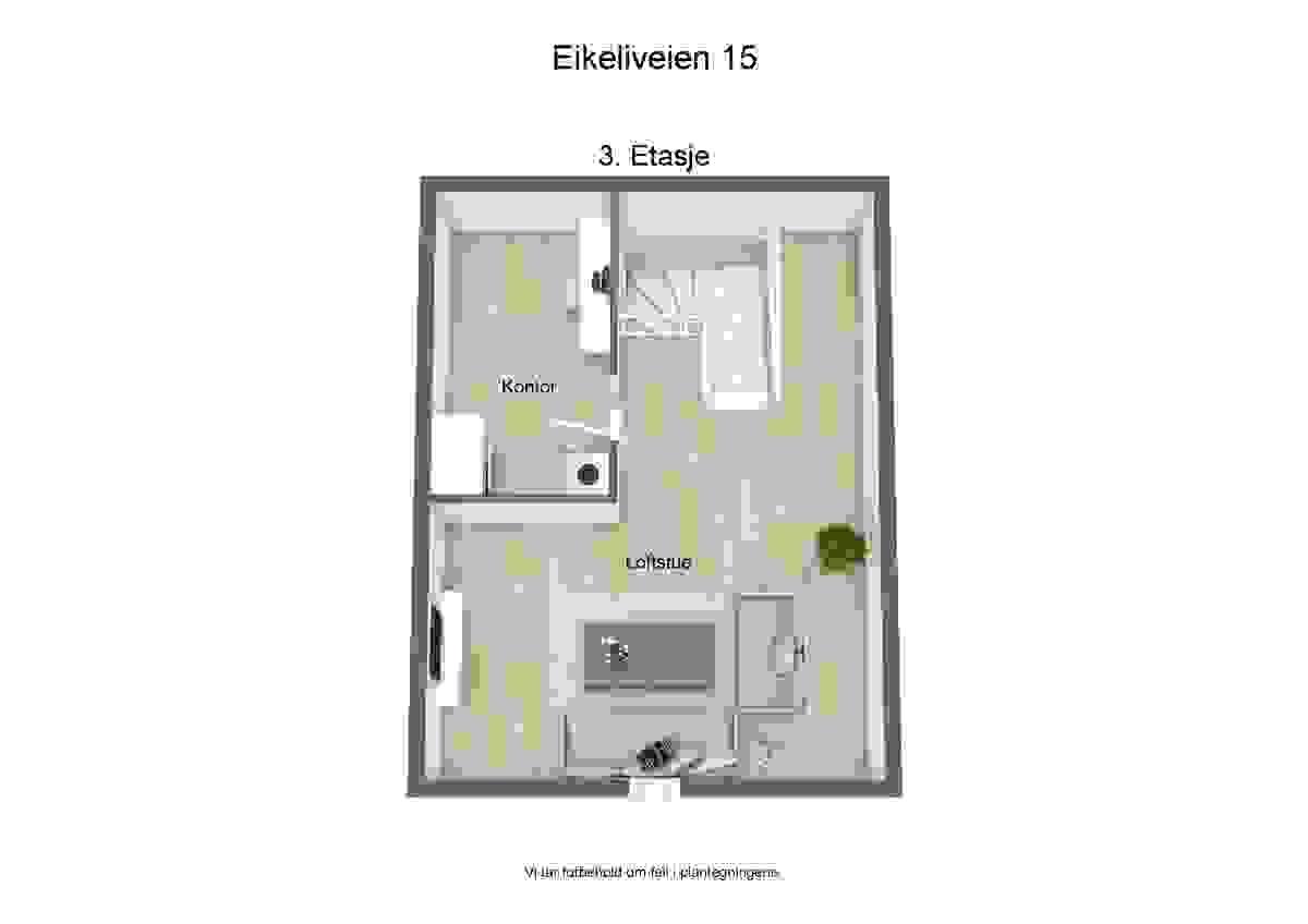 3d-plantegning 3. etasje