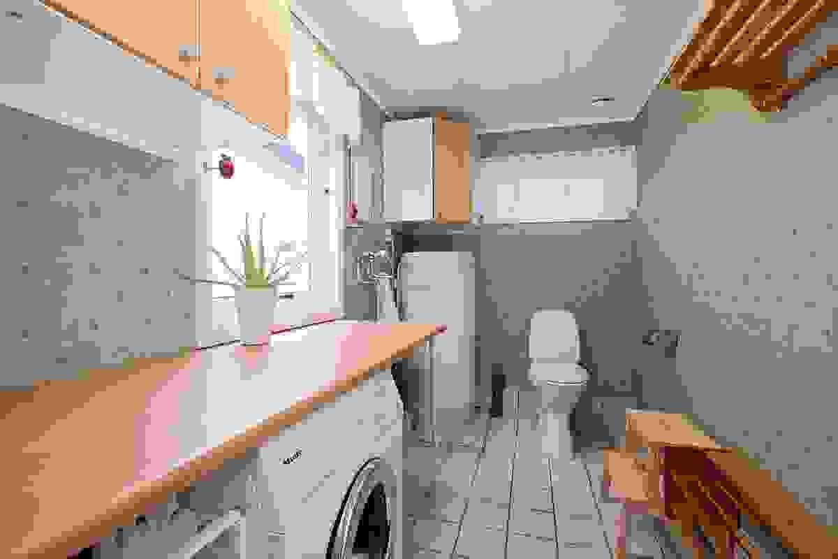 Eget vaskerom med toalett