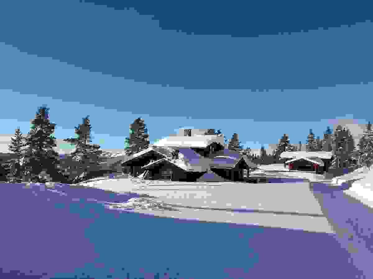 Vinter i Flugonfjellvegen 54