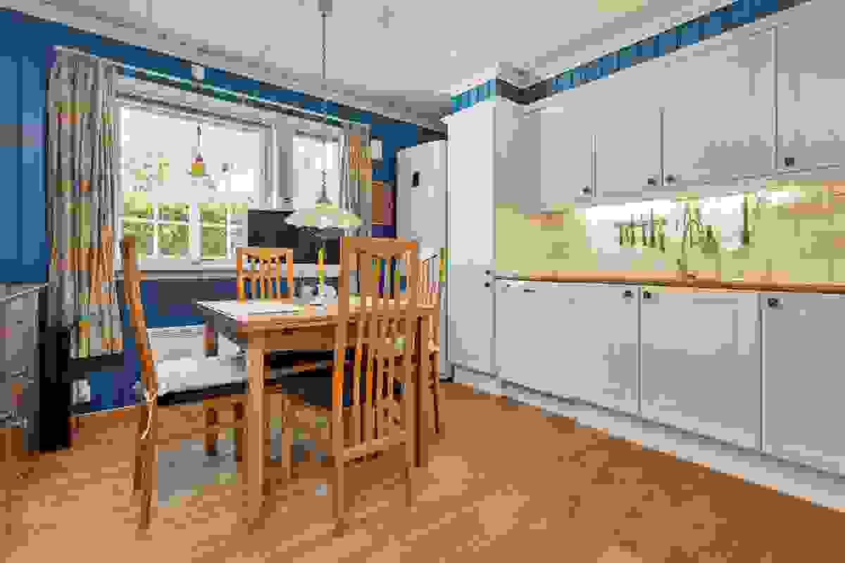 Den lukkede løsningen gjør at man kan forberede måltider i frem og ro skjermet fra hovedoppholdsrommene i samme etasje