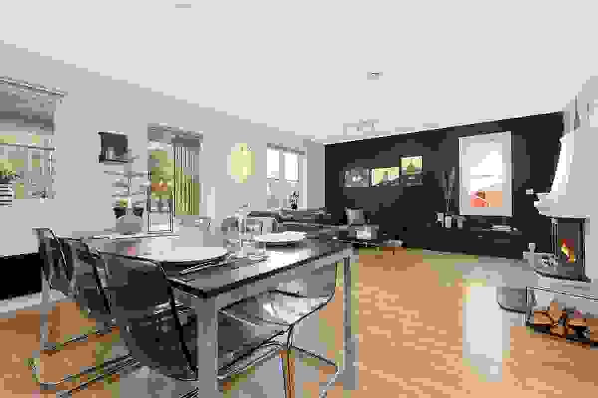Åpen stue- og kjøkkenløsning