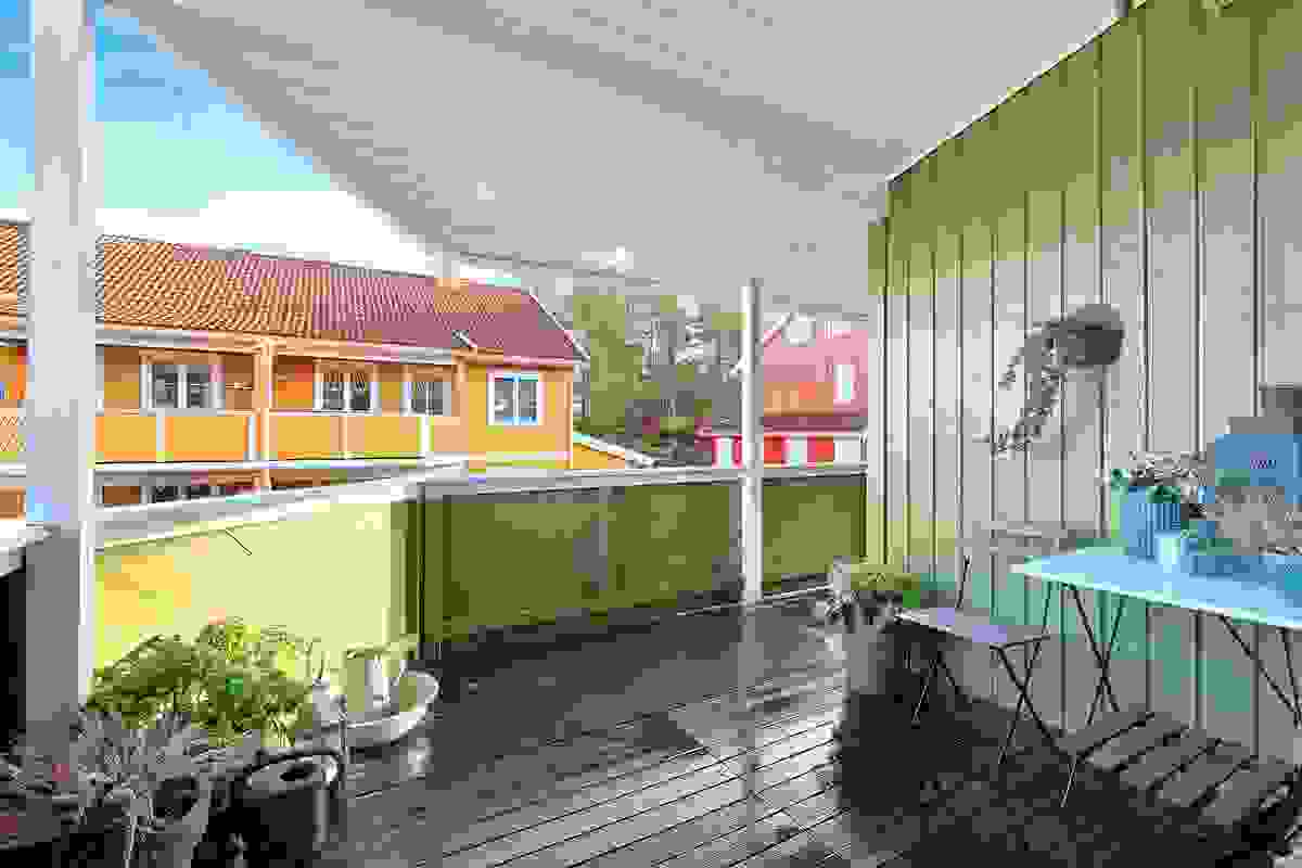 Terrasse ved inngangen