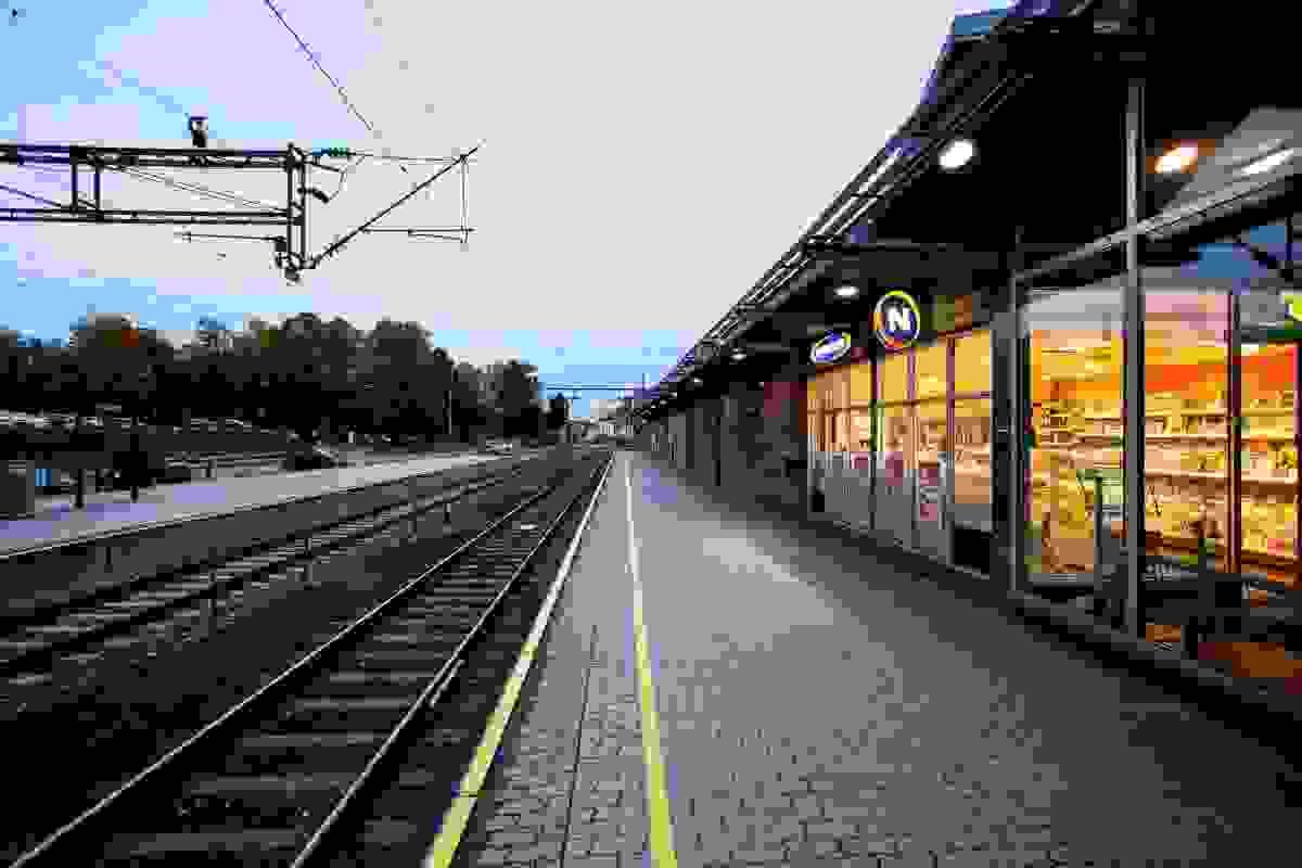 Nærområde; Kort vei til Tønsberg jernbanestasjon