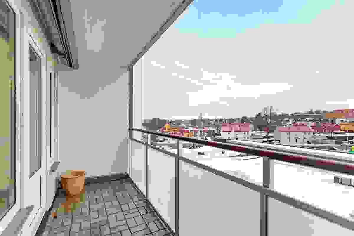 Flott balkong med areal på 5,5 m2.