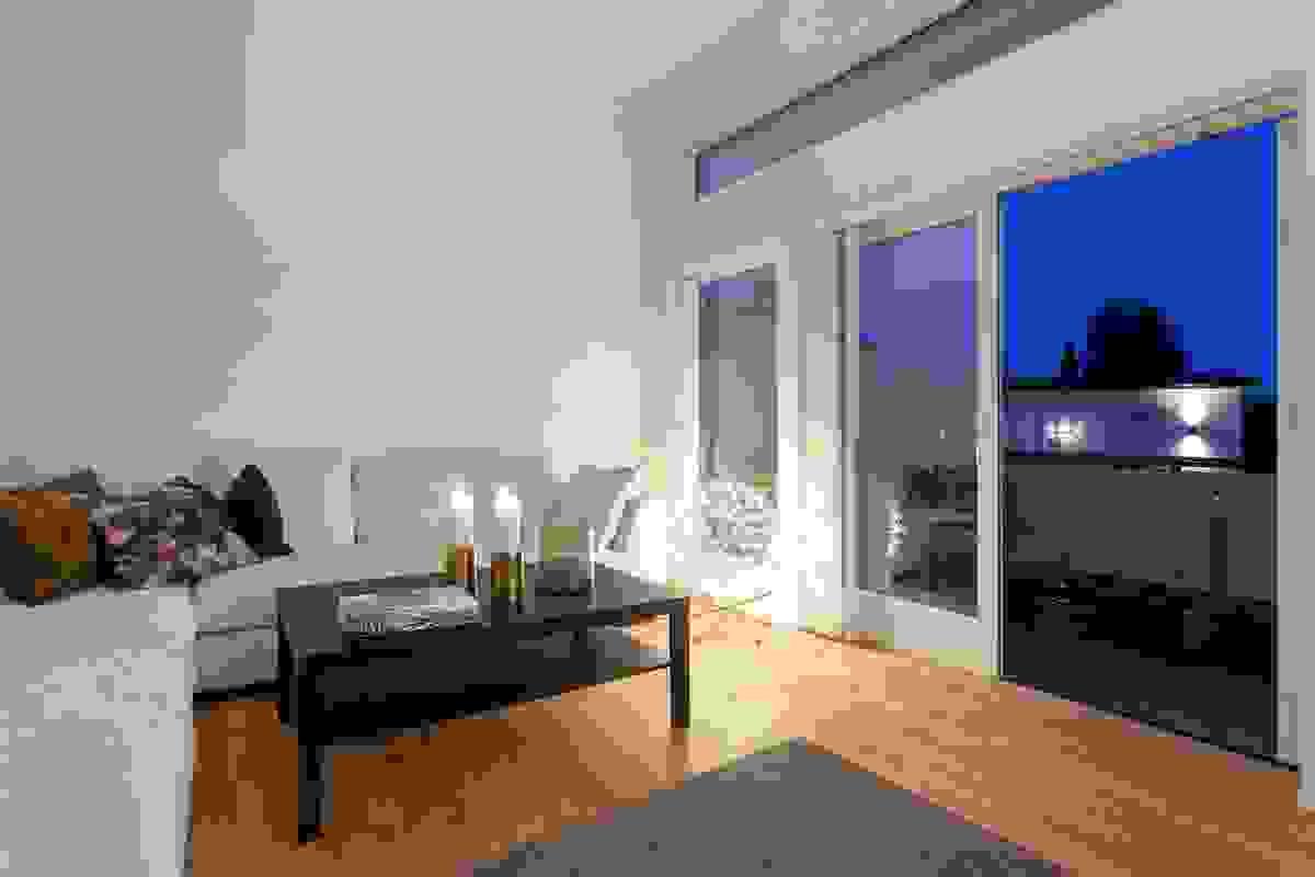 Fra stuen er det utgang til en romslig veranda
