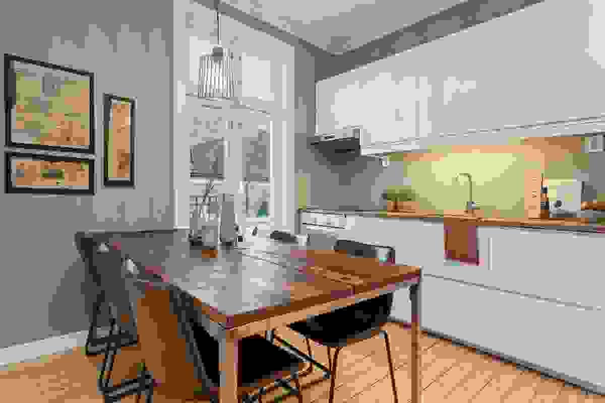 Nytt kjøkken, overflater på vegg og gulv samt elektrisk i 2018
