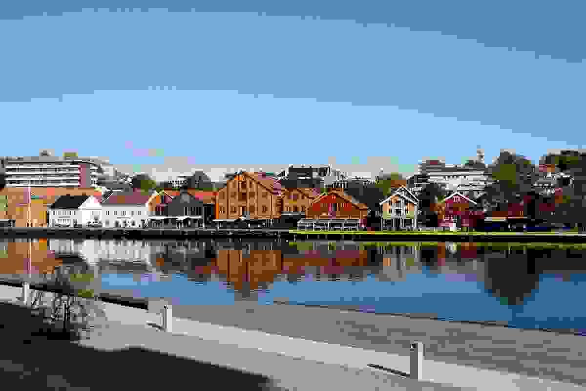 Områdebilde fra Tønsberg brygge