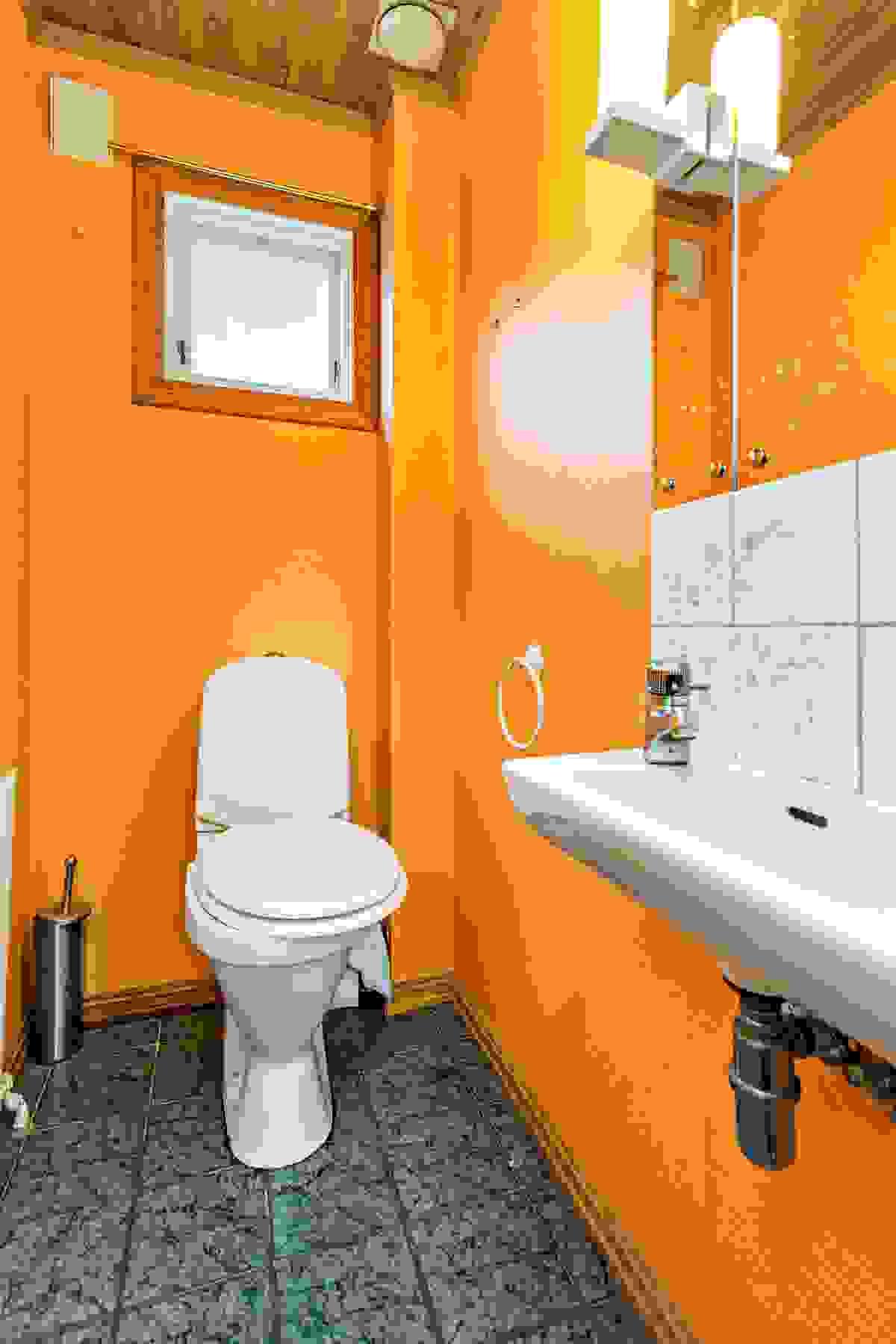 Friskt innredet toalettrom - god energi?