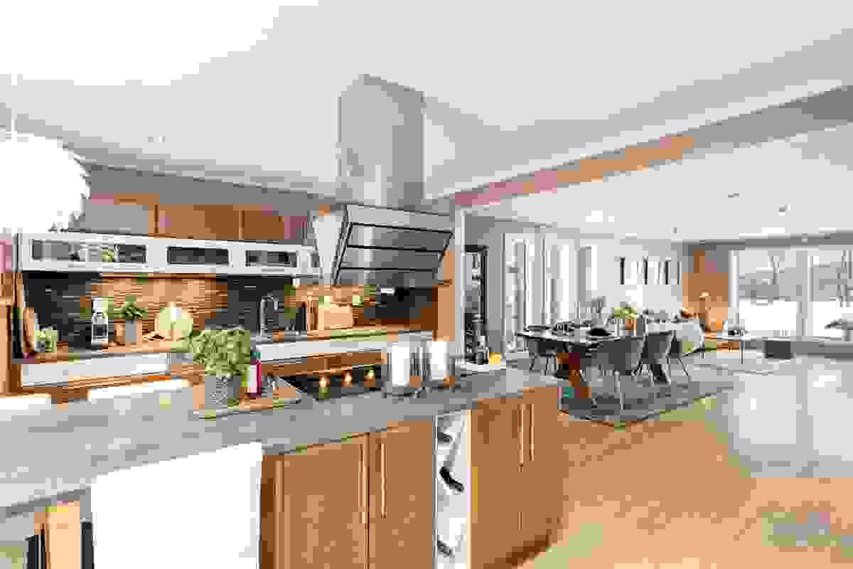 Stilfullt kjøkken fra Huseby og Miele som virkelig vil imponere deg.