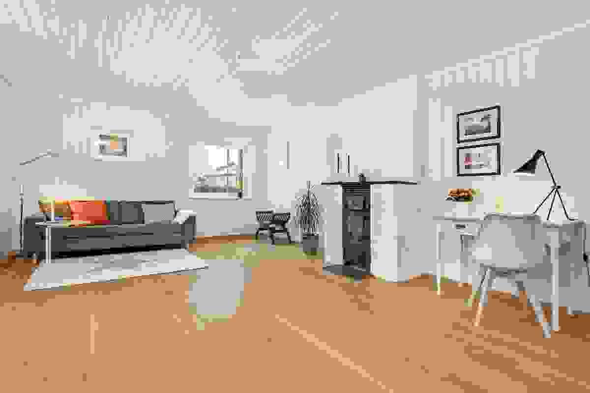 Pen leilighet med en arealeffektiv planløsning.