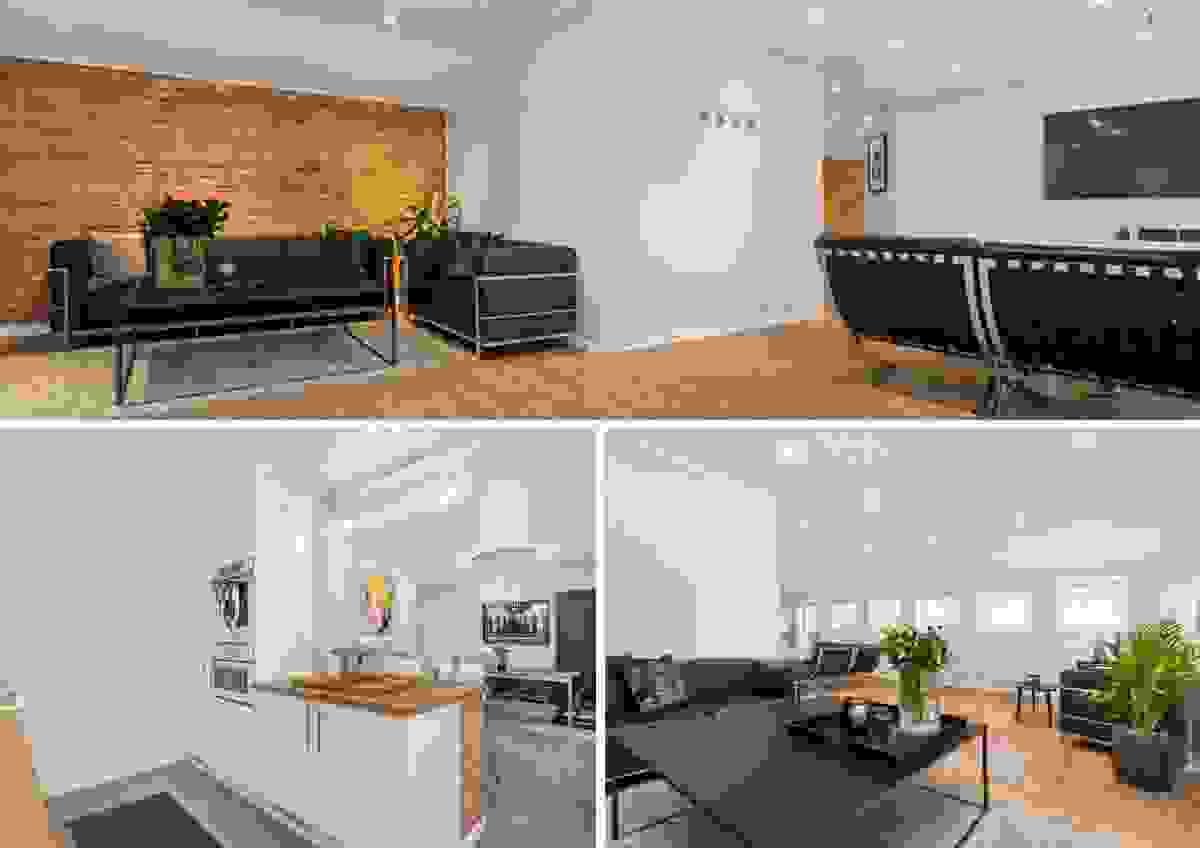 Velkommen til Sørbyen og en rålekker, sæpreget og stilfull toppetasjeleilighet på hele 142 m²
