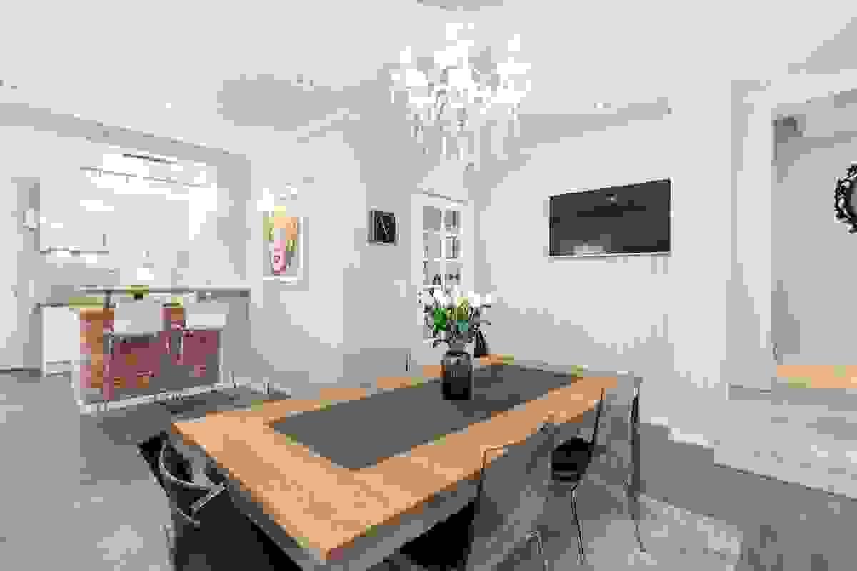 """Stue-/spisestue - sammen med kjøkkenet er dette """"hjemmets hjerte"""""""