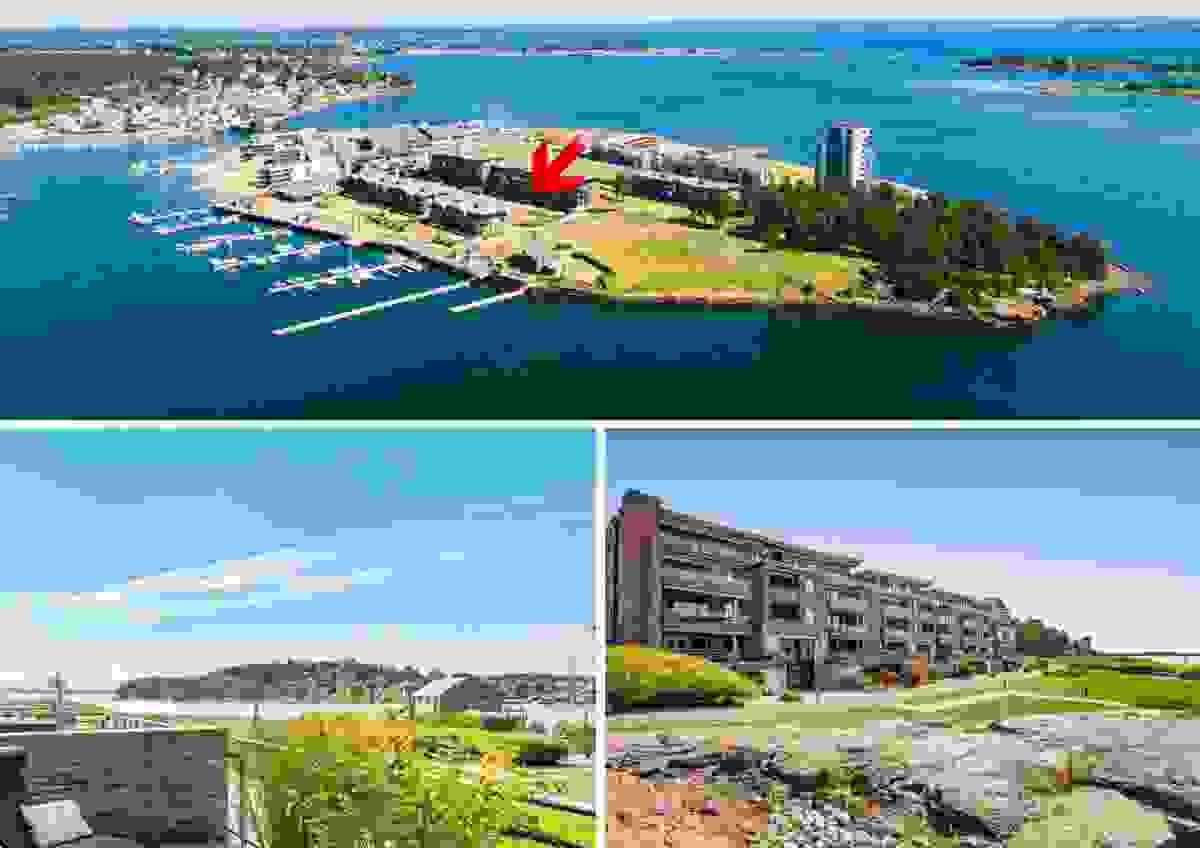 Velkommen til Jarlsøveien 55B og denne romslige og vestvendte leiligheten ved sjøkanten med 34 m² hovedterrasse, sol hele dagen og nydelig sjøutsikt