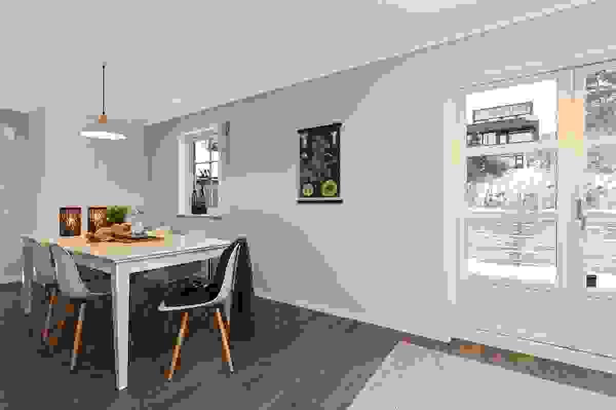 Deilig spiseplass på kjøkken.
