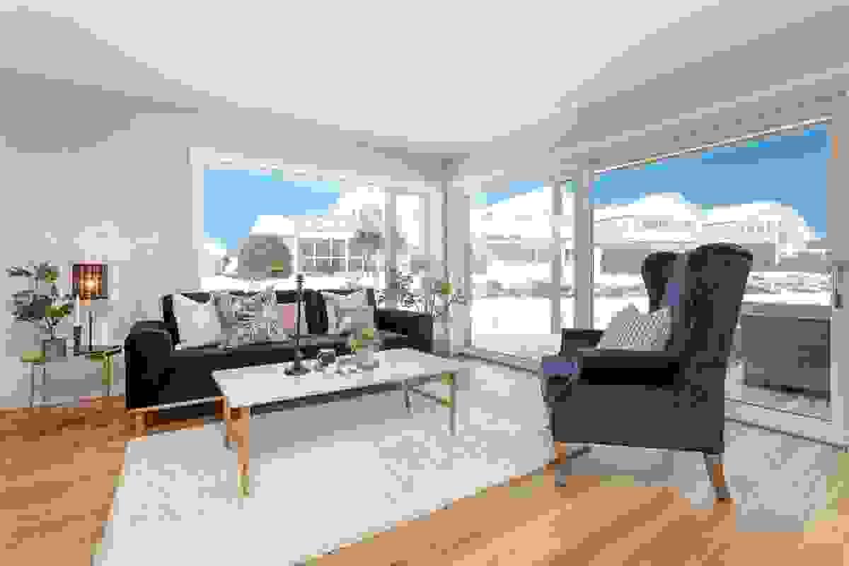 God plass til sitte- og sofagruppe