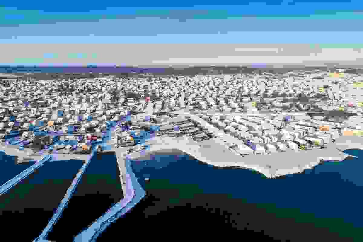 Området fotografert med drone