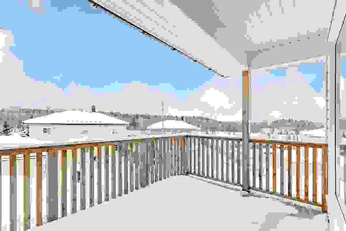 Overbygget terrasse mot vest