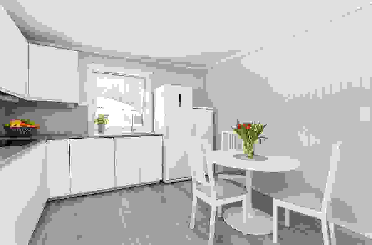 Plass til spiseplass på kjøkkenet