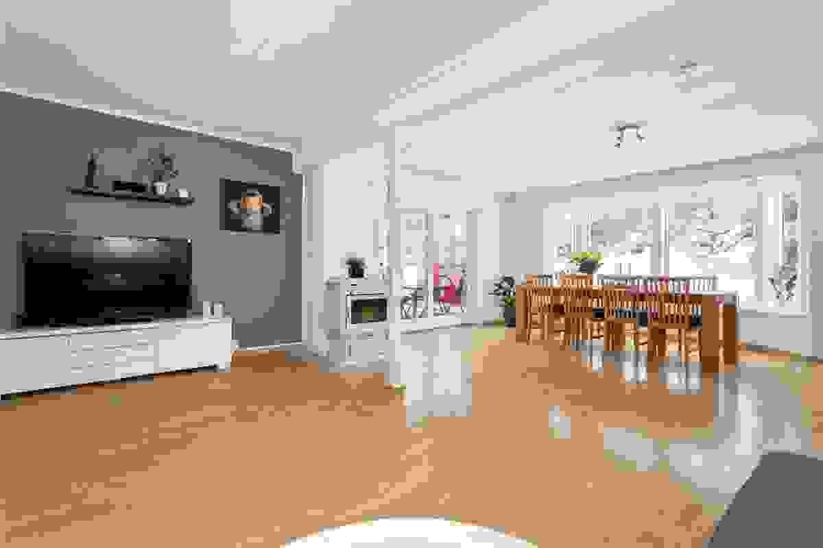 Mange inredningsmuligheter i stuen