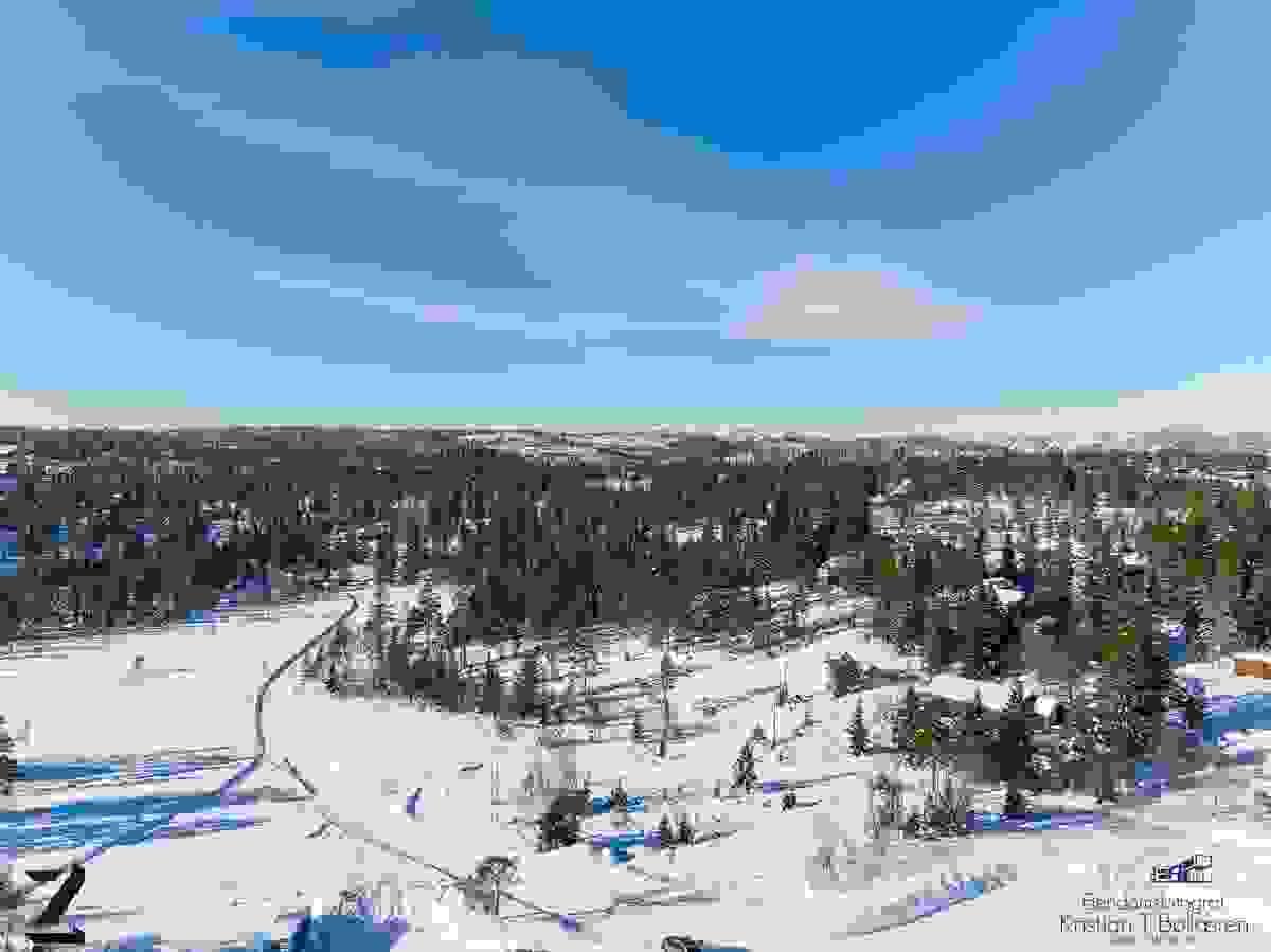 Området ved tomtene B0 og B1 på Skrim Syd - Februar 2019