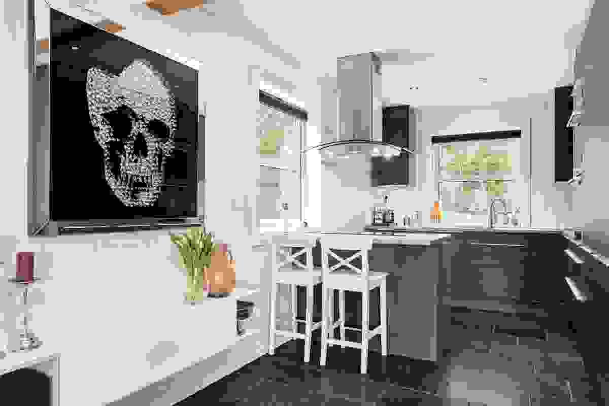 Kjøkkenet levert av HTH er et lekkert, tidløst kjøkken som oser av kvalitet