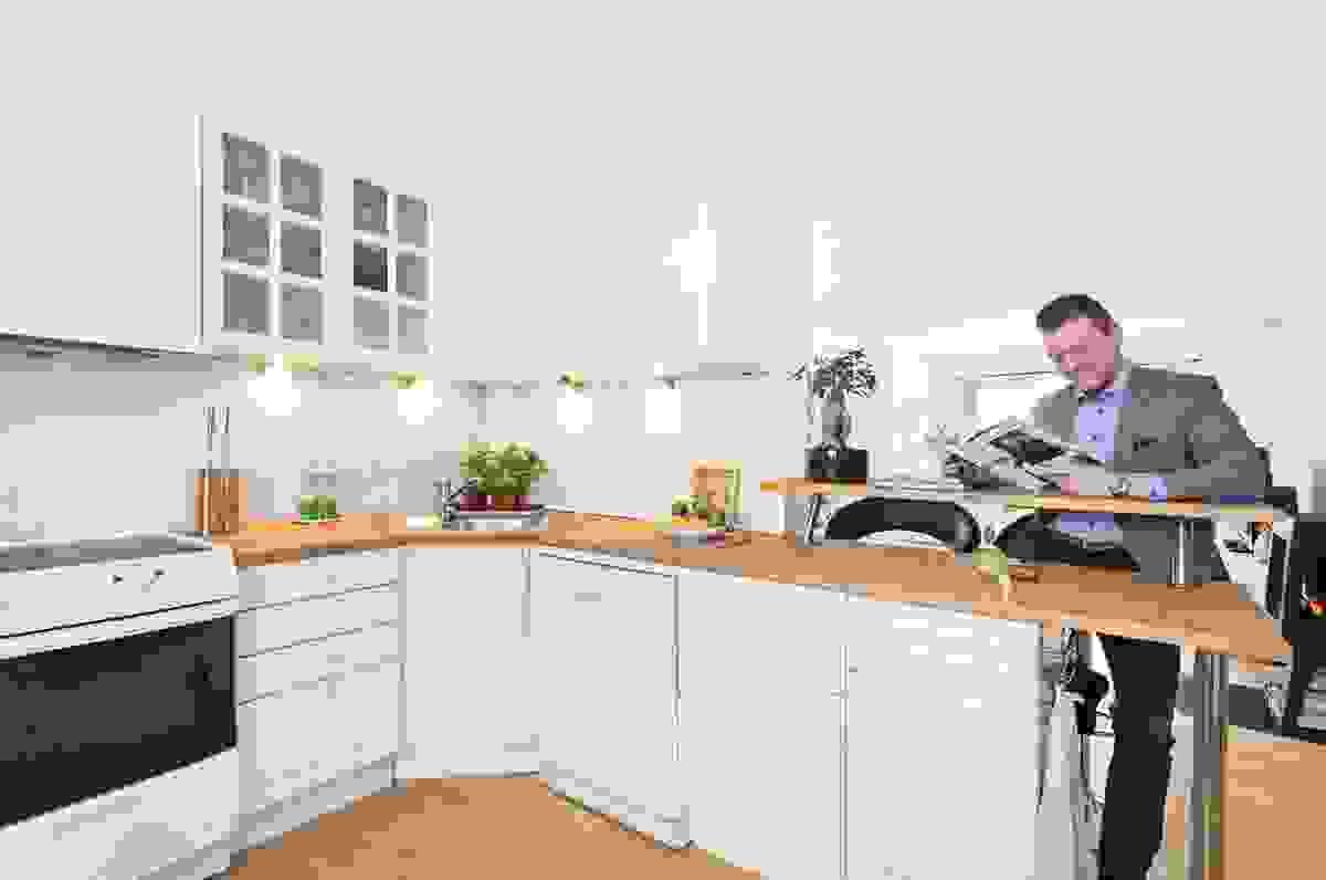 Barløsning fra kjøkken til spisestuen