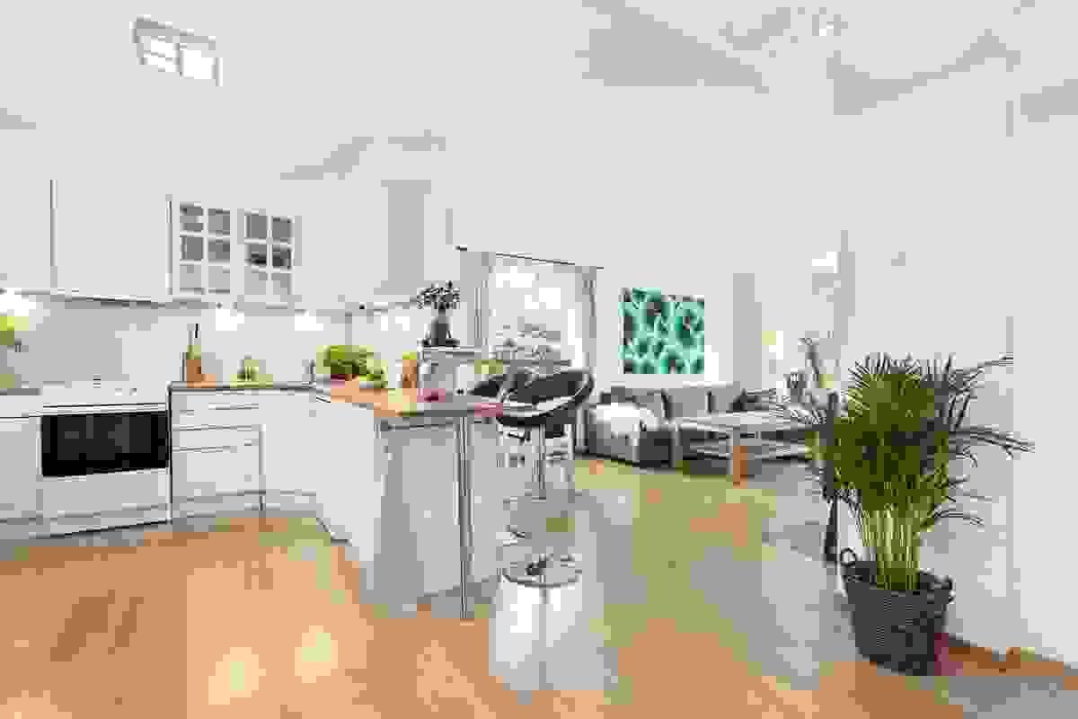 Lys leilighet med åpen planløsning