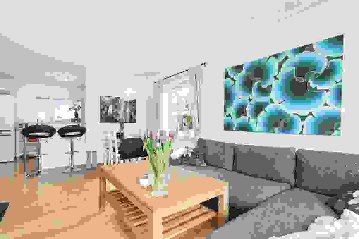 Godt med gjennombelysning i stuen