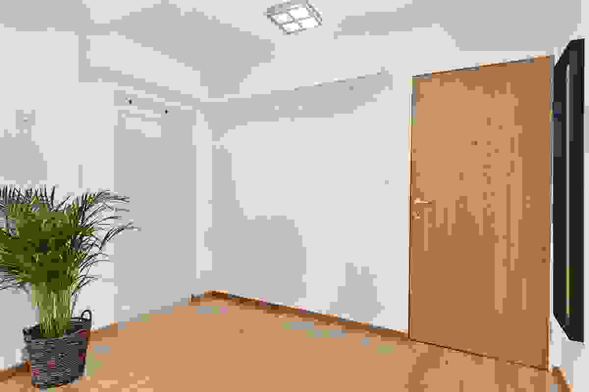 Inngangspartiet til leiligheten