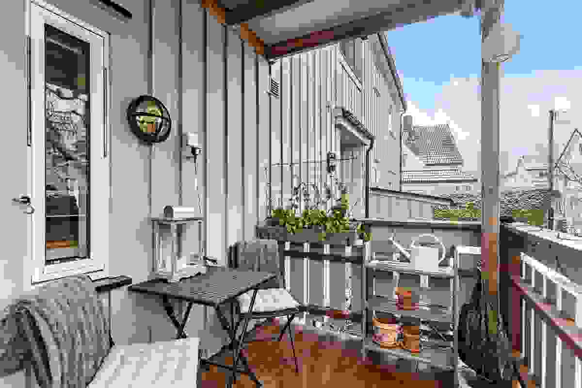 Overbygget terrasse