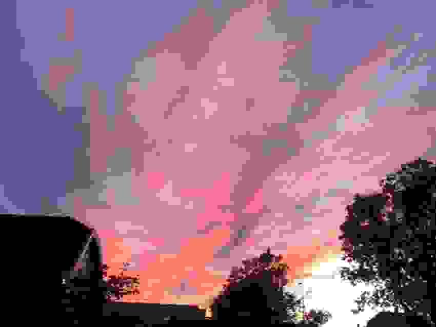 Bilde tatt av selger - Stemning med vakker solnedgang i vest