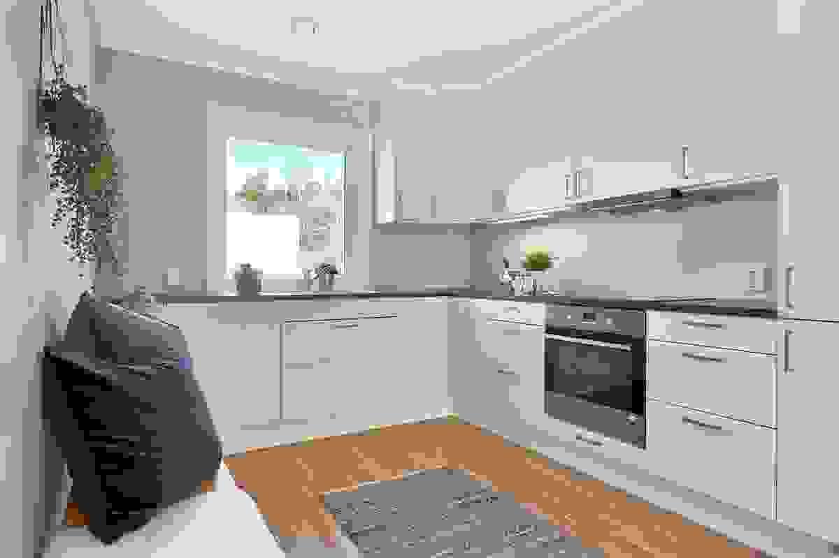 Sigurd Jarls vei 39B - Kjøkken med integrerte hvitevarer