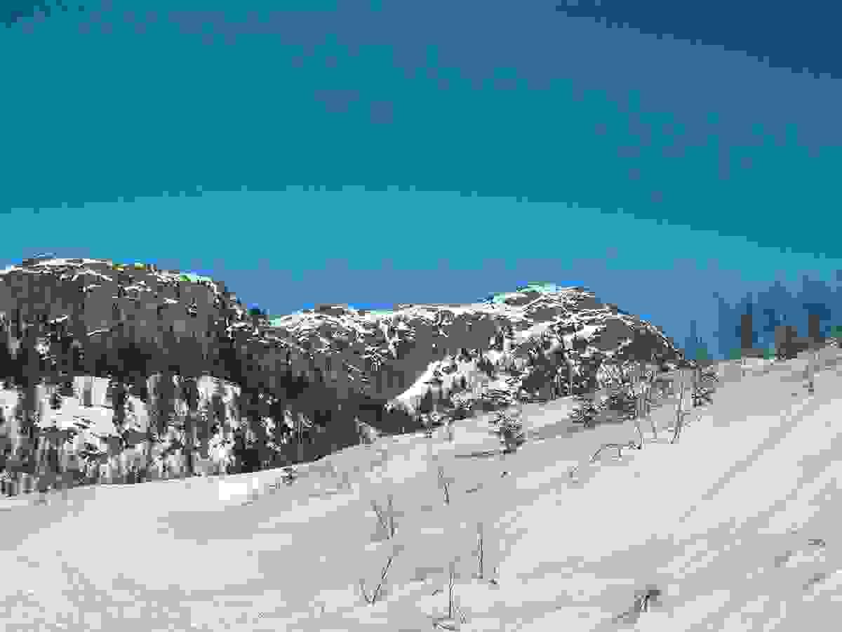 Skrimfjella sett fra Skrimsdalen