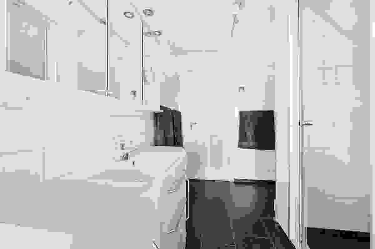 Romslig bad/wc i 2. etasje